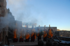 Fire puja (prayer ceremony) for the benefit of all sentient beings.