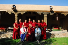 "Group photo at the ""monks"" house with Ira and  Sylvia Seret. Santa Fe, NM."