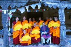 "Group photo at ""monks house"", Santa Fe.  Mystical Arts of Tibet tour group with Ira Seret."