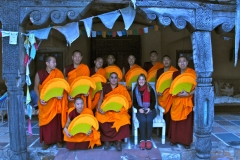 "Group photo at ""monks house"", Santa Fe.  Mystical Arts of Tibet tour group with Sylvia Seret."