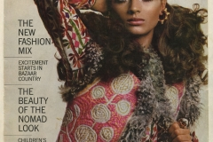 Harper's Bazaar cover showing the sheepskin jackets Ira exported to the West from Istalif.
