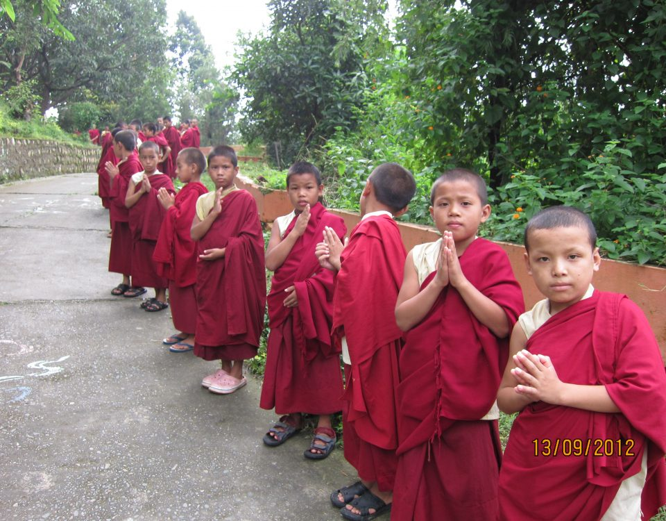Young monks from the Drepung Loseling Monastery.