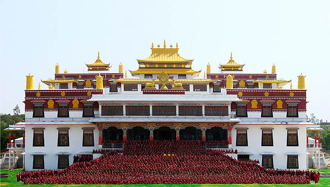The Jindhag Foundation supports the monks of the Drepung Loseling Monastery by providing daily meals