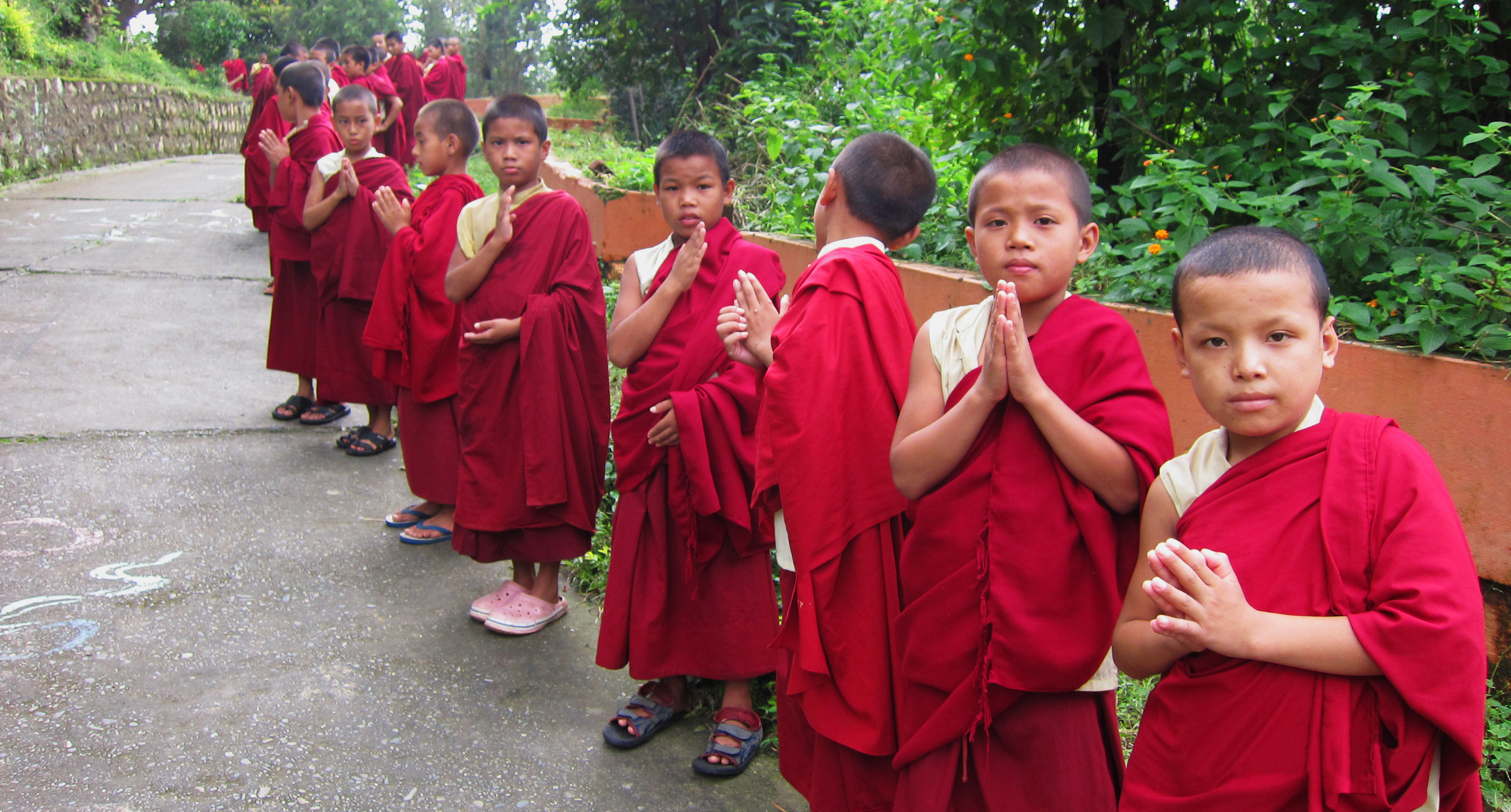 Young Monks from the Gongkar Choede Monastery