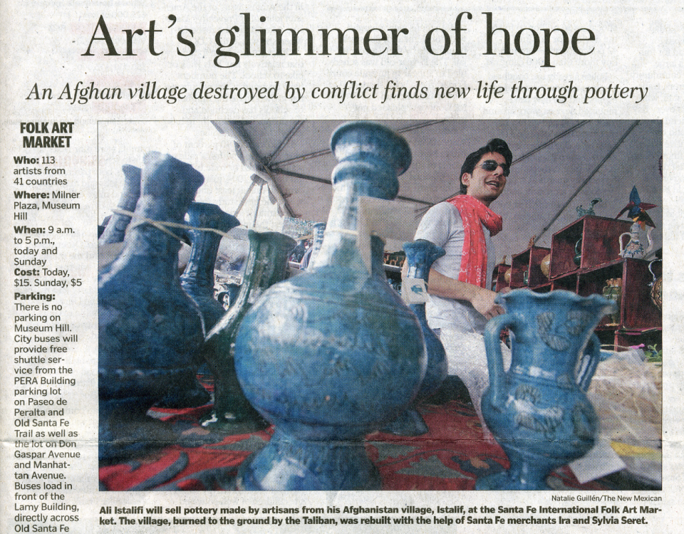 Art's Glimmer of Hope - The Santa Fe New Mexican - Ali Istalifif