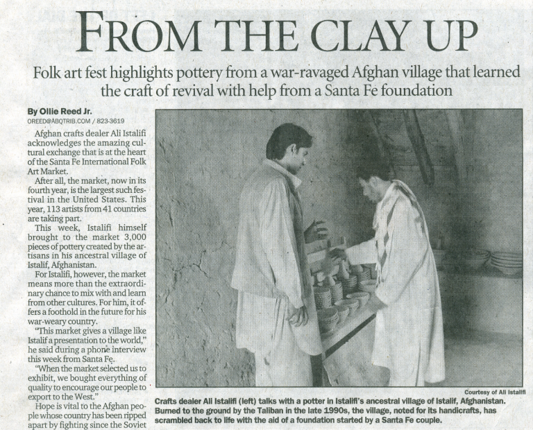 From the Clay Up - Albuquerque Journal - Ali Istalifi