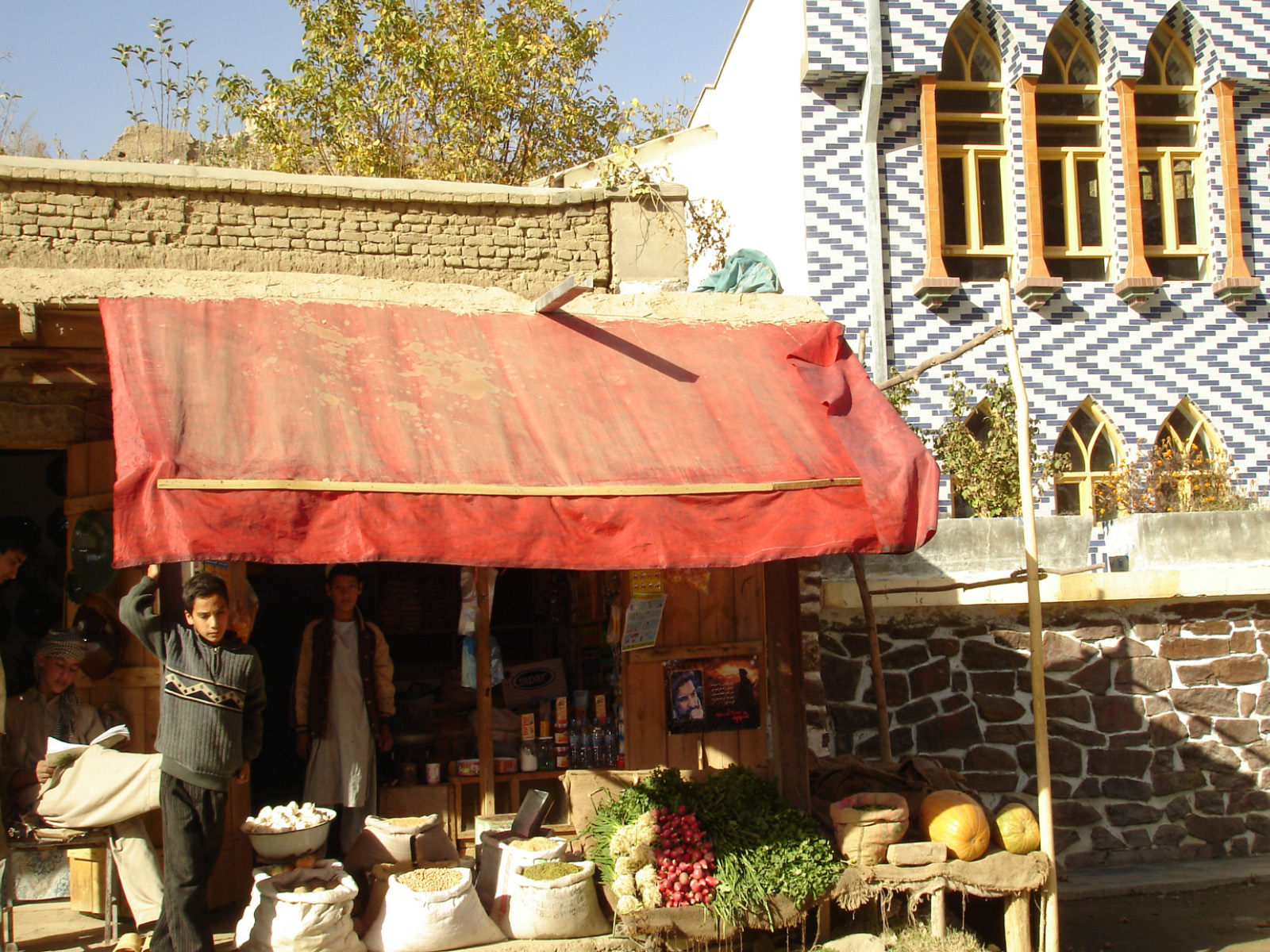 A food vendor in the newly rebuilt Istalif marketplace. Istalif Afghanistan