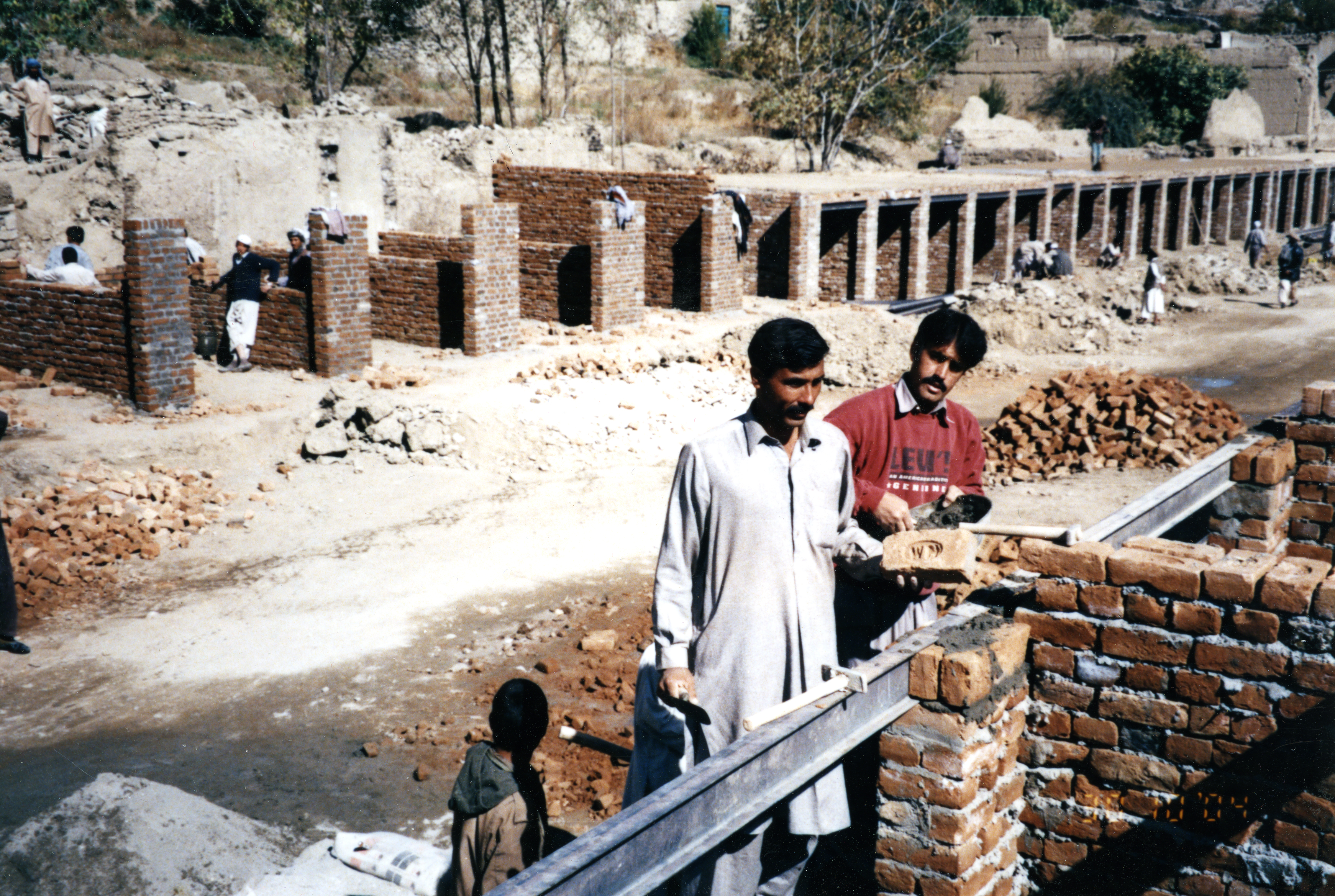 Constructing new walls in Istalif Afghanistan