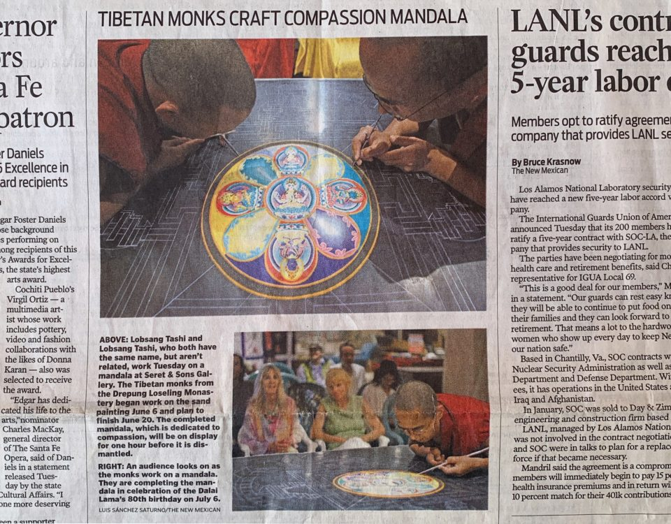 The Santa Fe New Mexican - 2015 - Tibetan Monks Craft Compassion Mandala