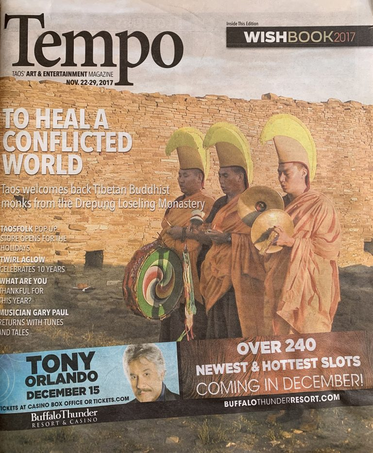 Tempo Magazine - To Heal A Conflicted World, 2017 - page 1